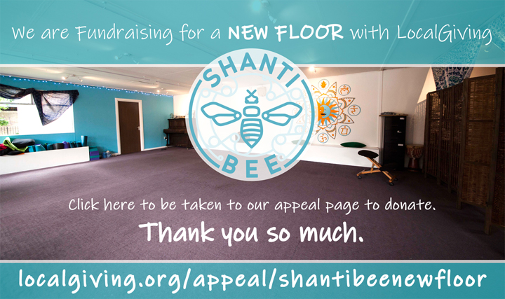 Shanti Bee New Floor Fundraiser Banner