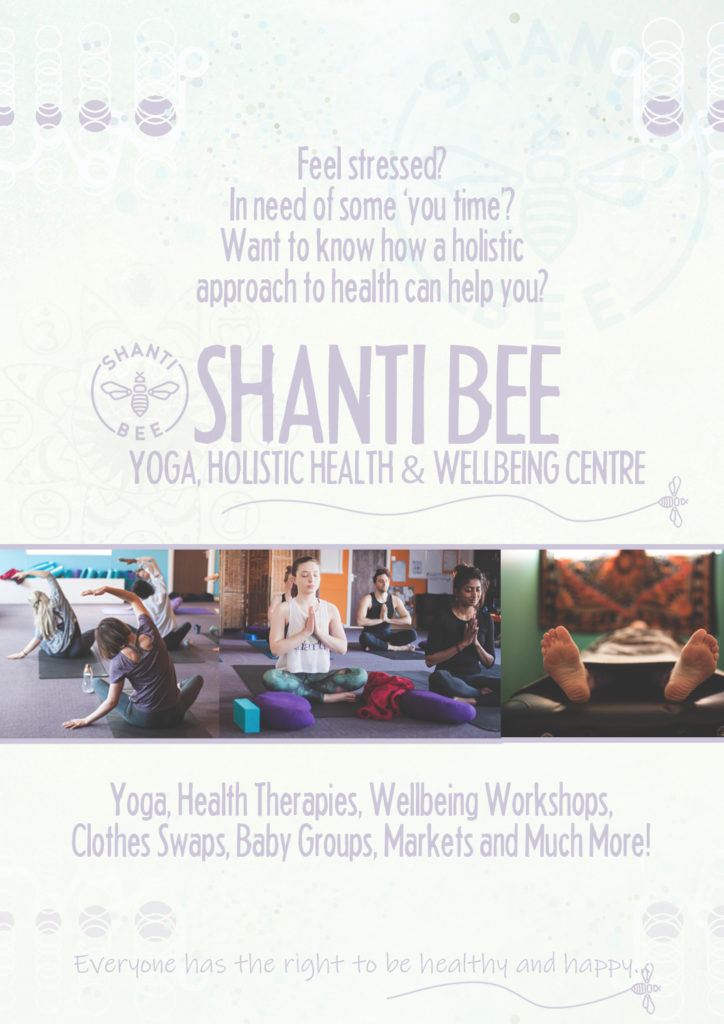 Shanti Bee - Yoga, Holistic Health & Well Being Centre Poster